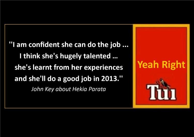 John Key - Hekia is hugely talented - tui