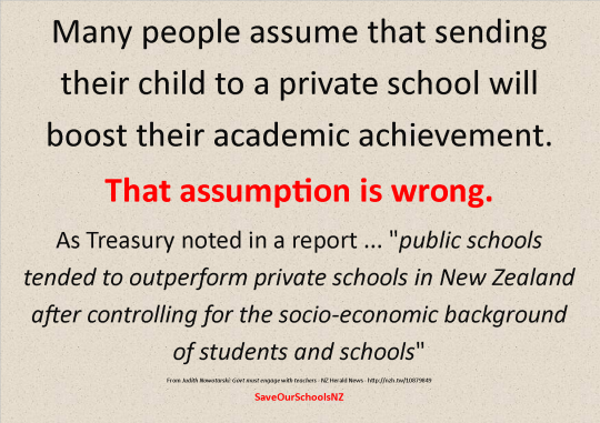 Private not better than public schools