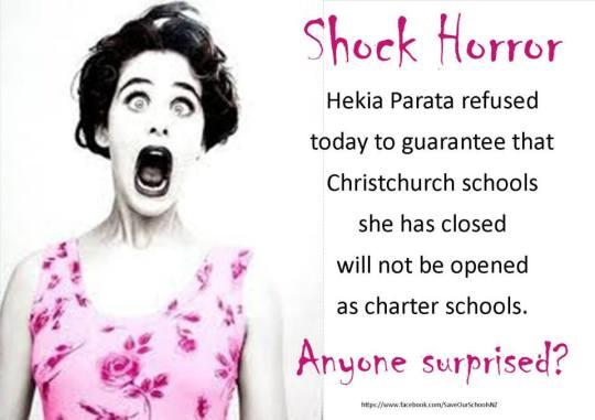 shock horror - Hekia Christchurch