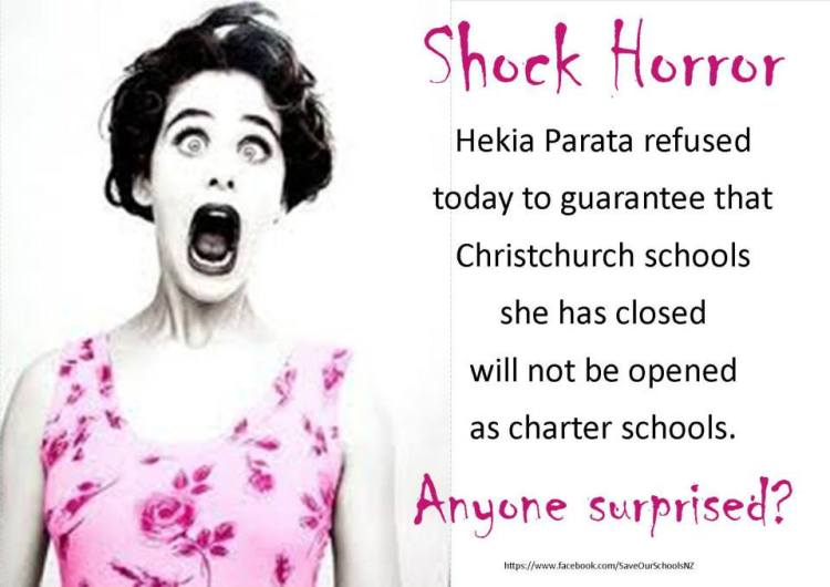 shock horror - Hekia Christchurch