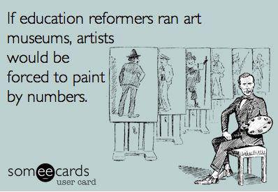 If Ed reformers ran art galleries...