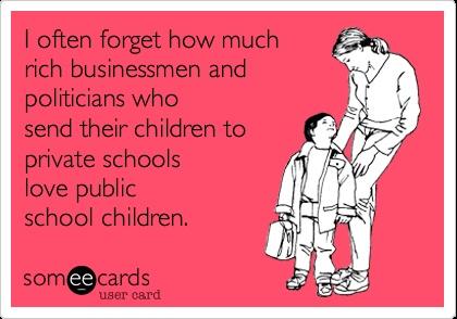 politicians and private schools