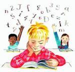 child sitting a test