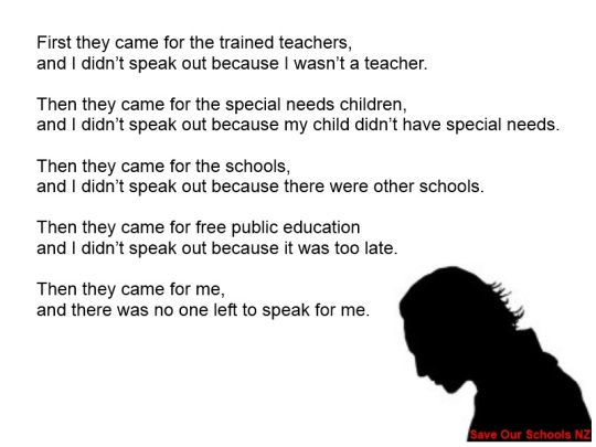 First they came for the trained teachers