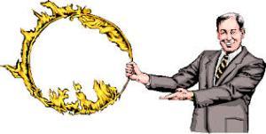 jump through hoop of fire