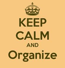 keep calm and organise
