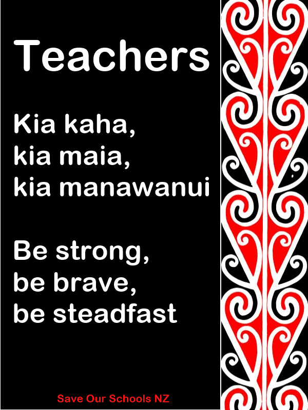 kia kaha teachers - stay strong