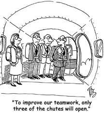 thrree chutes only - teamwork