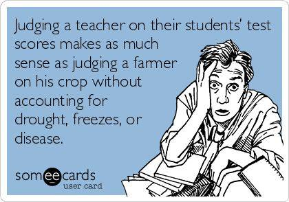 judging a teacher by test restults