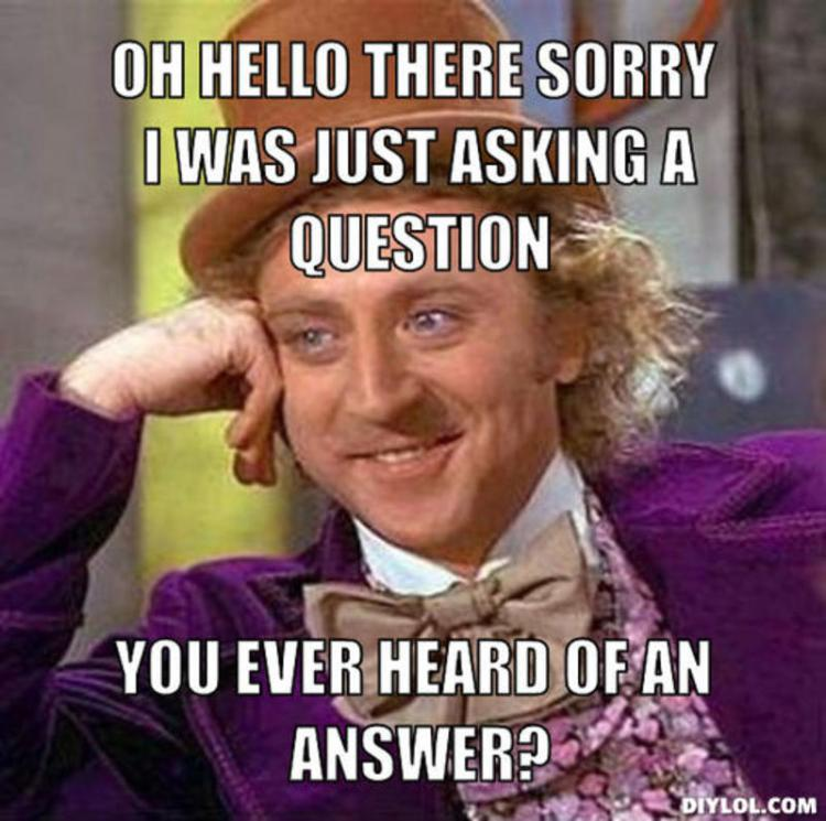 wonka asks Hekia have you got an answer