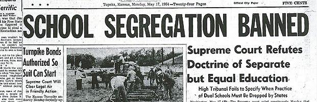 segregation brown v board of education