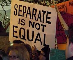separate not equal