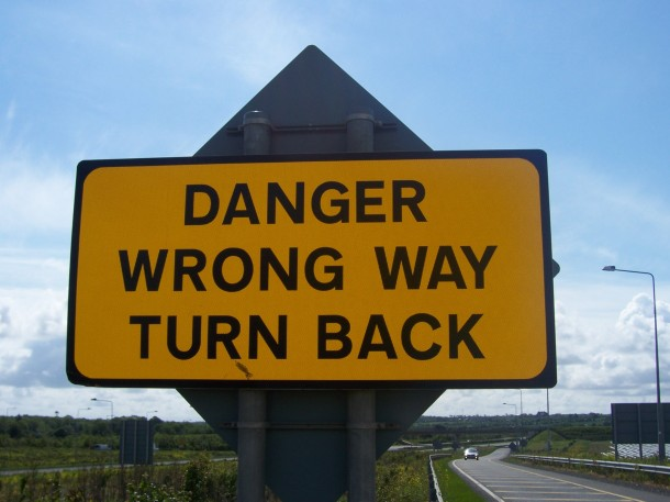 danger turn back