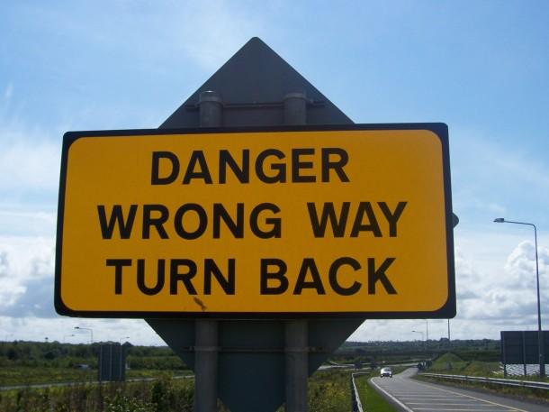 danger turn back