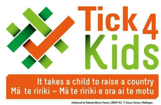 tick for kids very large logo w quote