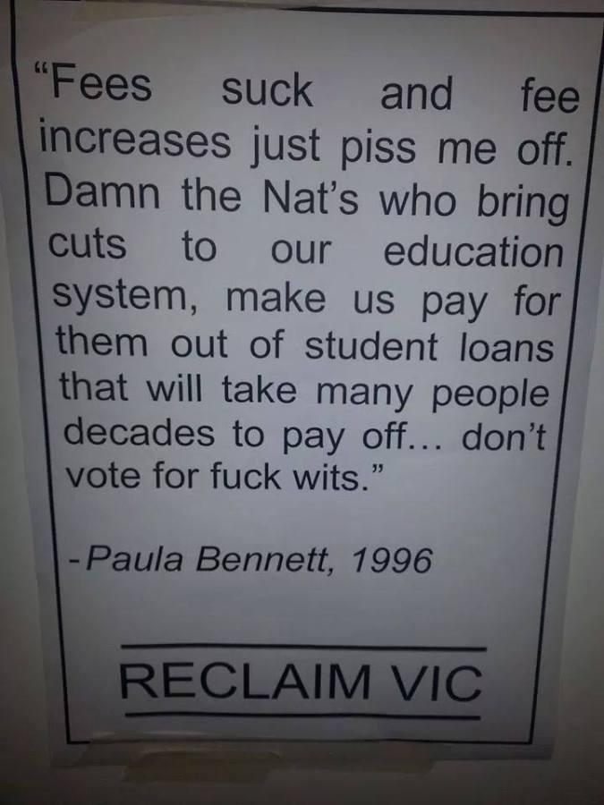 Paula Bennett of uni fees