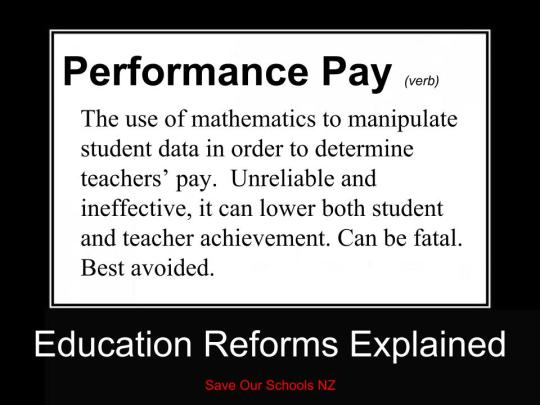 Education reforms Explained - performance pay