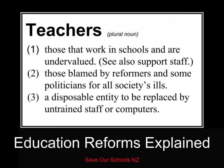 Education reforms Explained - teachers