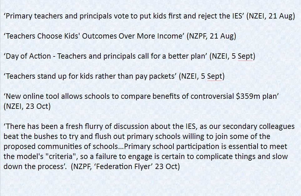 Investing in Educational Success | Save Our Schools NZ