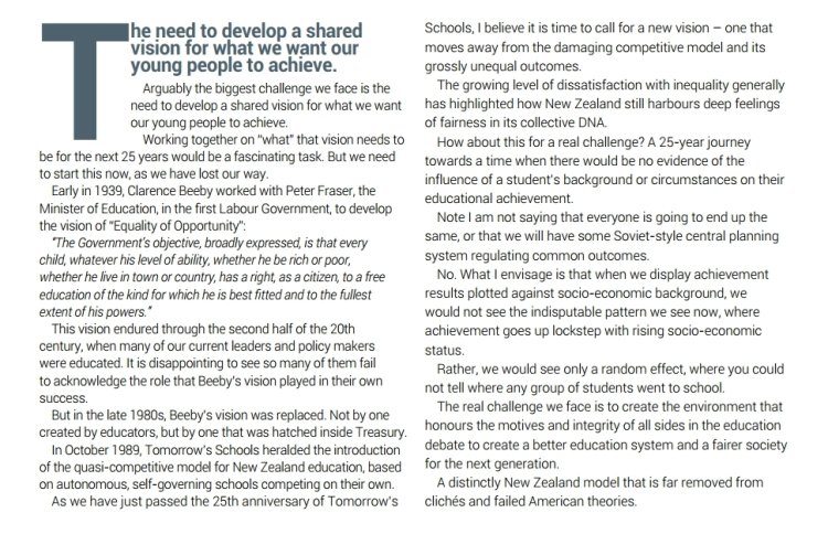 Education Review - Bill Courtney article 1