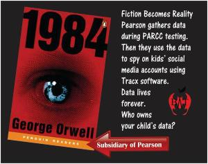 In a twist of irony, '1984' is published by a subsidiary of Pearson.